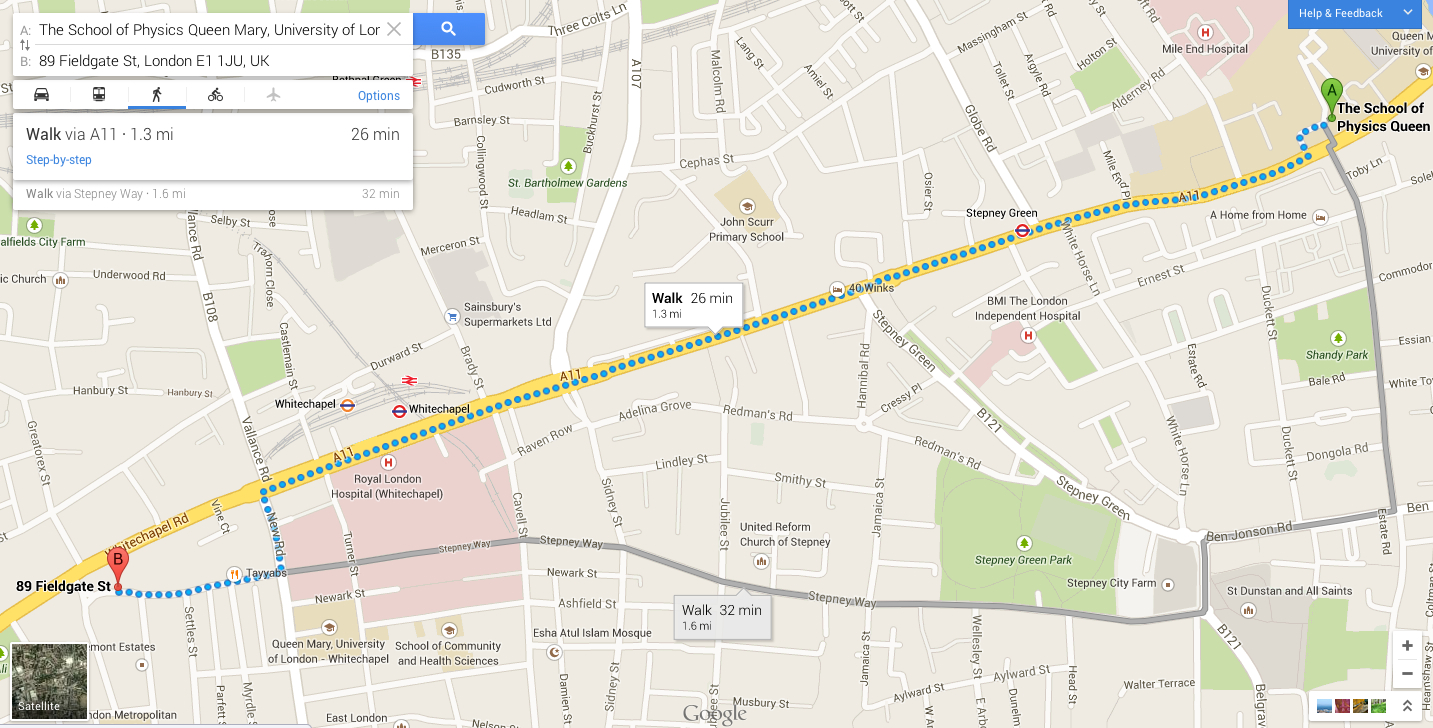 Directions to Tayyabs