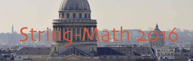 String-Math 2016, Collège de France, Paris