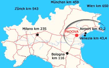 Map to Reach Padova