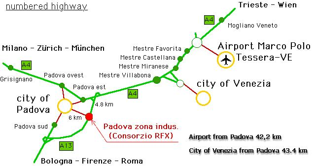 How to reach Padova by car