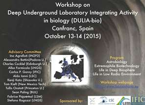 Deep Underground Laboratory Integrated Activity in biology (DULIA-bio)