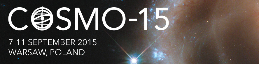COSMO-15, the 19th annual International Conference on Particle Physics and Cosmology