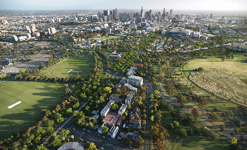 Overview of Parkville and Melbourne City