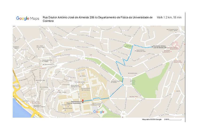 How to get from the Students' Residence to the Physics Department