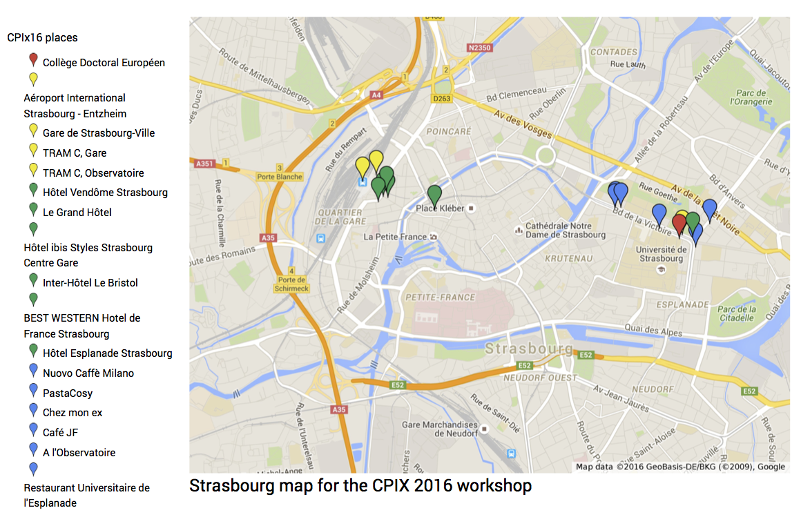 Strasbourg Map for CPIX16