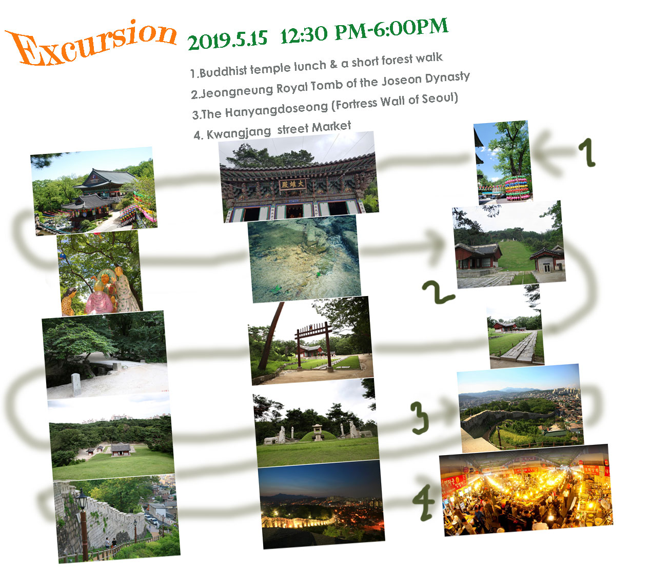 Plan for the Excursion:  4-course excursion