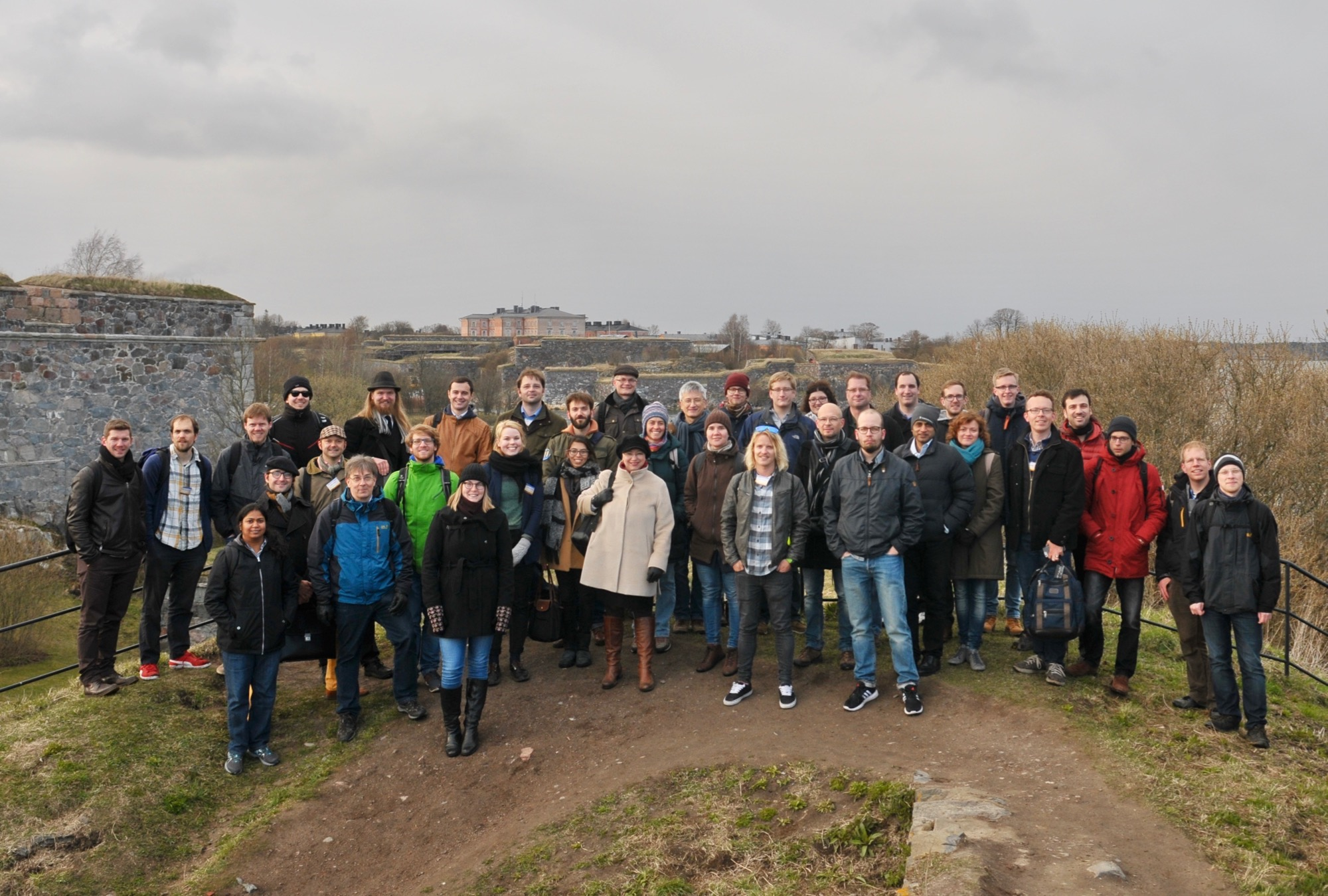JetMET conference photo at Suomenlinna fortifications