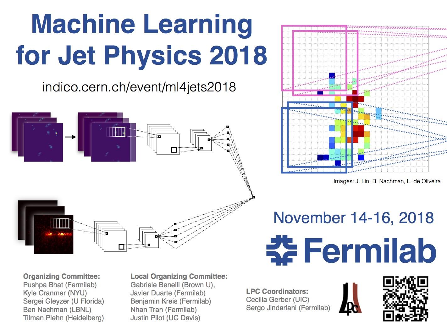 Machine Learning for Jet Physics (14-16 November 2018) · Indico