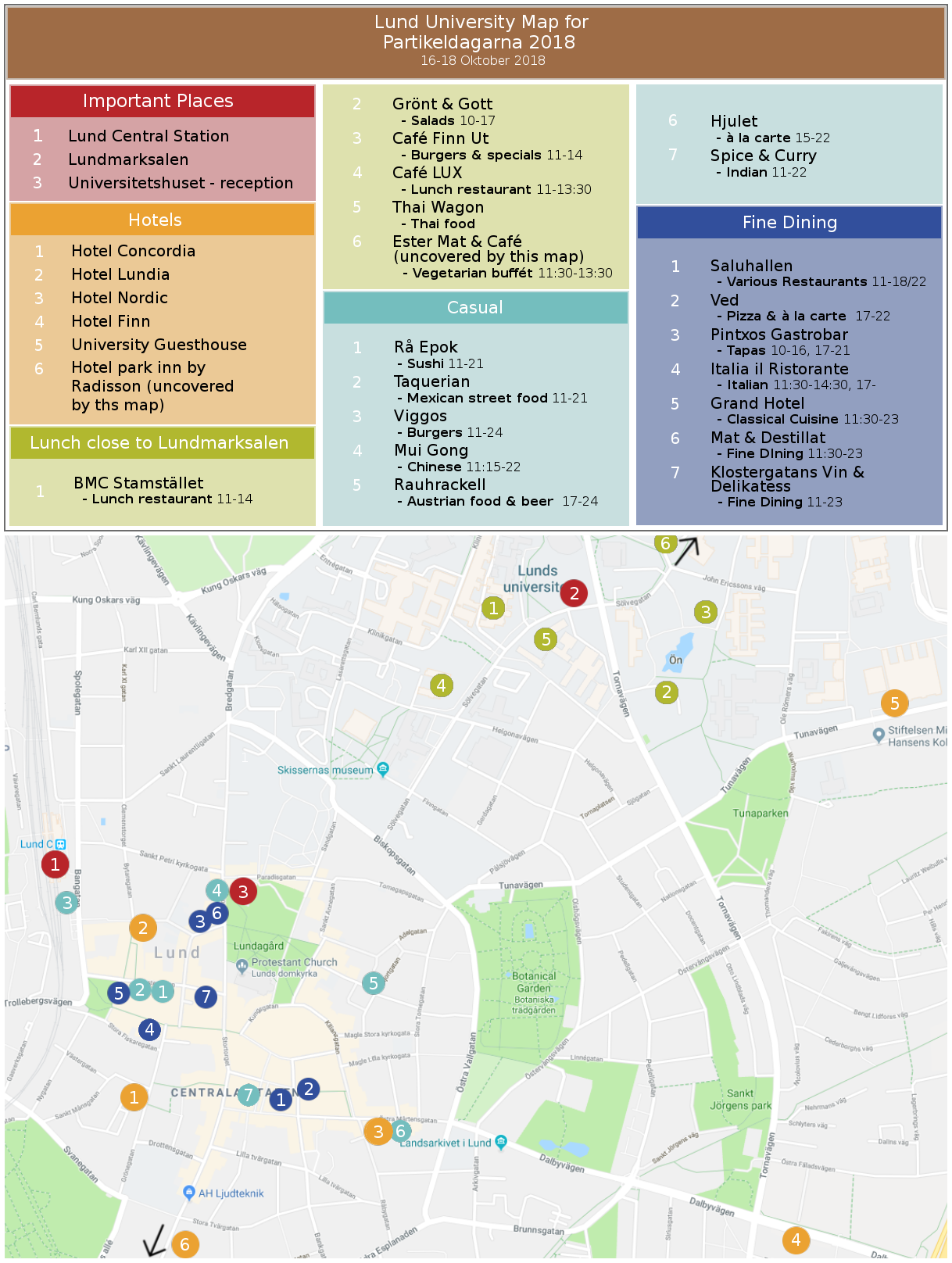 Map of lunch places