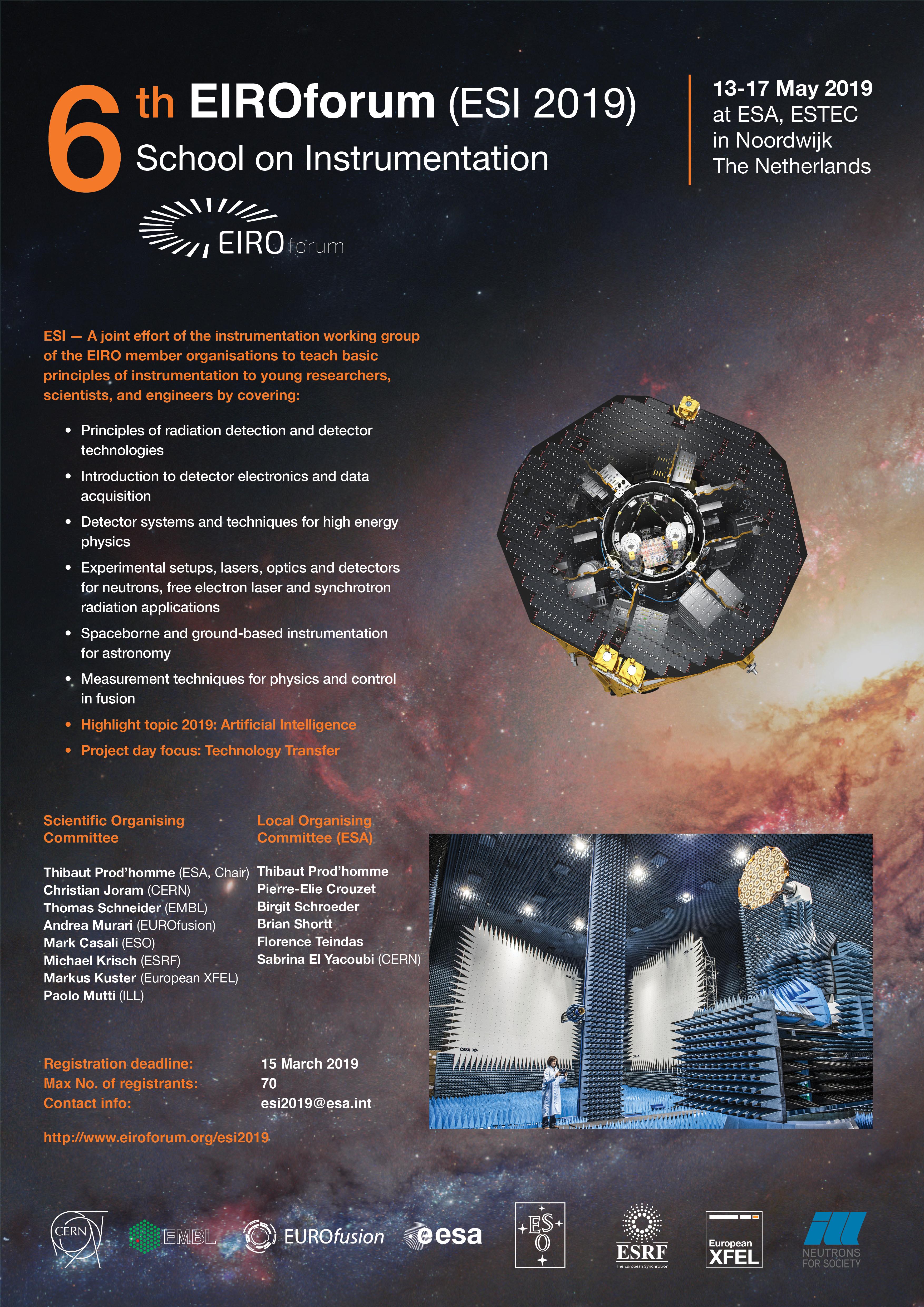 6th EIROforum School on Instrumentation (13-17 May 2019