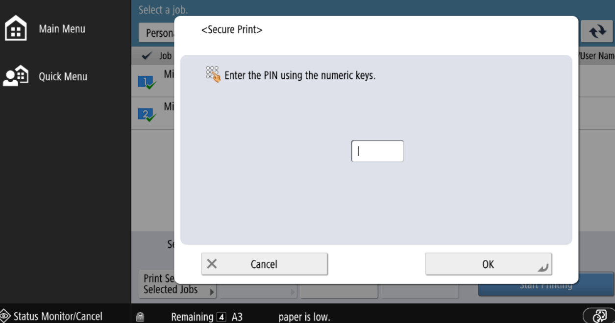 Secure Print by default on Mac ENGLISH version - video