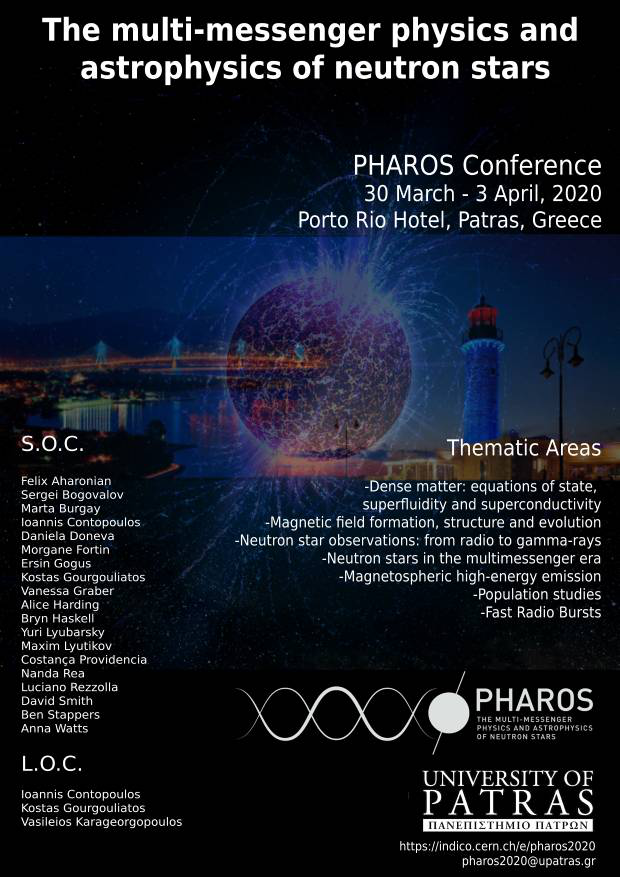 PHAROS Conference 2020: The multi-messenger physics and astrophysics of neutron stars
