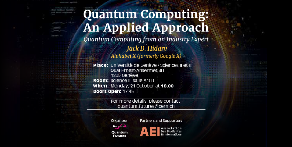 Quantum Computing: An Applied Approach UNIGE Science II-III, A100
